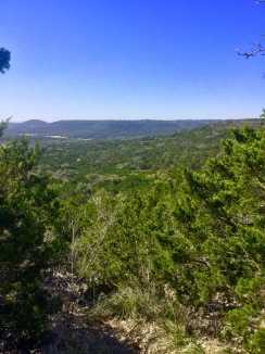 View from atop. Near Indiangrass Trail marker.